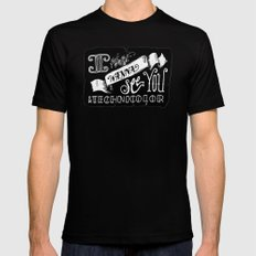 I Wanna See You in Technicolor MEDIUM Mens Fitted Tee Black