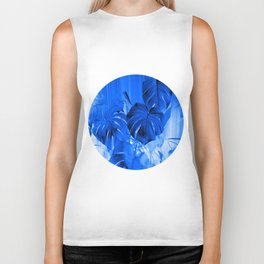 A Philodendron in blue Biker Tank