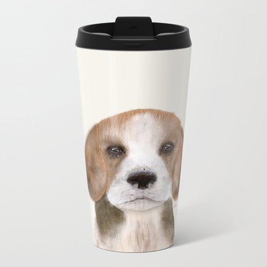 little beagle Metal Travel Mug