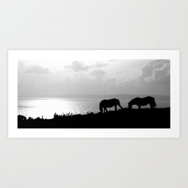 Overlooking the bay. Art Print
