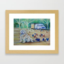 Charlie and the Chickens (*Koinonia*) Framed Art Print