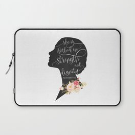 She is Clothed in Strength and Dignity Laptop Sleeve