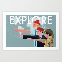 LIFE RUSHMOONRISE Art Print