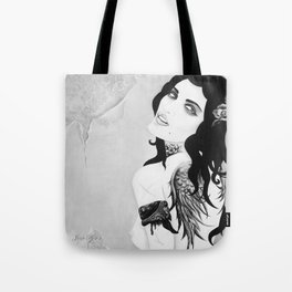 SINNER & SAINT   Dying with Jesus  Tote Bag