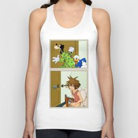 kingdom hearts Tank Tops featuring KINGDOM HEARTS: WINNIE THE POOP   by Gianluca Floris