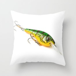 Fishing Tackle 24 Throw Pillow
