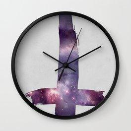 Space Cross Wall Clock