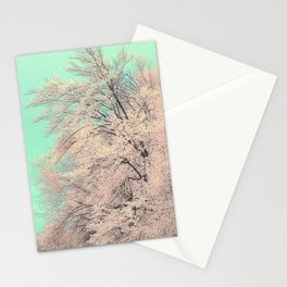 Snow tree Stationery Cards