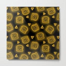 Neon Future Burgers in Yellow Metal Print