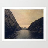 mountains Art Prints featuring mountains by Ingrid Beddoes