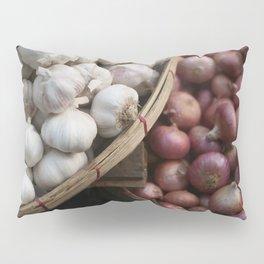 Garlic and Onions Basket - Market -  Pillow Sham