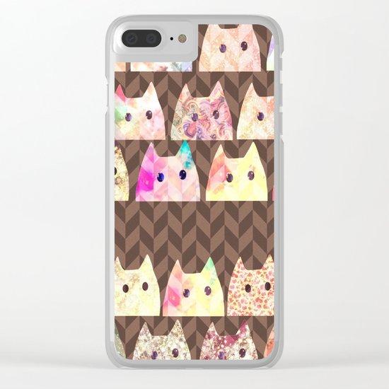 cat-277 Clear iPhone Case