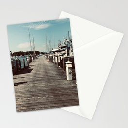 """""""Put in Bay Pier"""" photography by Willowcatdesigns Stationery Cards"""