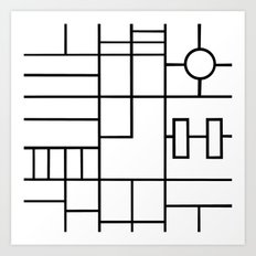 PS Grid Art Print