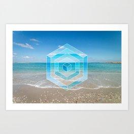 Sacred Geometry Seaview Art Print