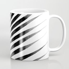 Palm Leaf Watercolor | Black and White Coffee Mug