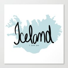 Iceland love Canvas Print