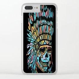 Miami Deco Skull Clear iPhone Case