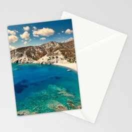 Agios Minas is the most exotic beach of Karpathos, Greece Stationery Cards