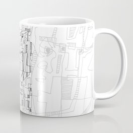 Conversation - b&w Coffee Mug