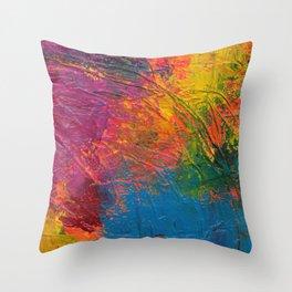 Paint Mess Throw Pillow