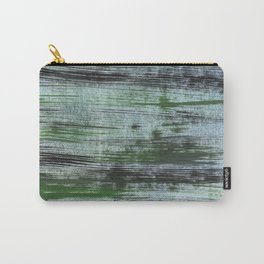 Gray green striped abstract Carry-All Pouch