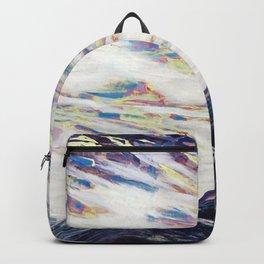 Undulate (Rocky Mountain/ Sea Crashing scene in Deep Purples) Backpack