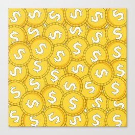 MONEY: Coins Canvas Print