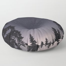 Starry Sunset | Nature and Landscape Photography Floor Pillow