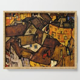 "Egon Schiele ""Krumau - Crescent of Houses (The small City V)"" Serving Tray"