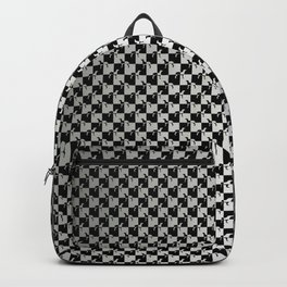 Black and Silver Gray Ghost Checkerboard Weimaraner Backpack