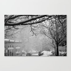 Winter Black and White Canvas Print