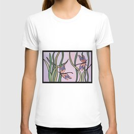 dragonflies in  a pastel color background T-shirt