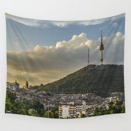Namsan Tower Glow! Wall Tapestry