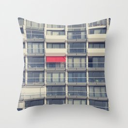 Red Awning Throw Pillow