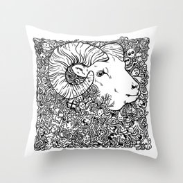 Worsheep Throw Pillow