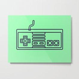 NES Controller - Retro style Metal Print