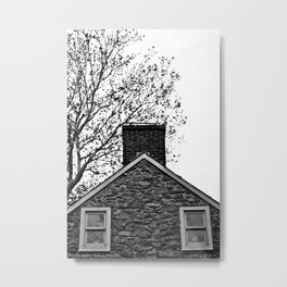 Farm House Tree Tops Metal Print
