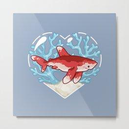PECK the Whitetip Reef Shark Metal Print