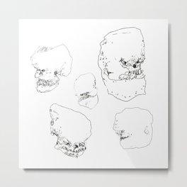 Cartoon Skulls Metal Print