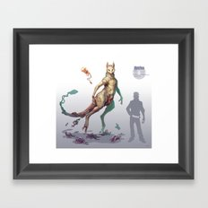 Pokemon-Mewtwo Framed Art Print
