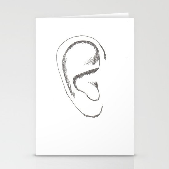 an earful Right Stationery Cards