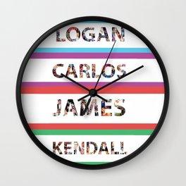 Logan Carlos James Kendall Wall Clock