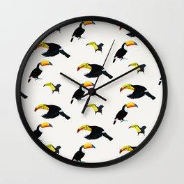 Durante of toucans Wall Clock