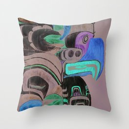 Stanley Park Totems Throw Pillow