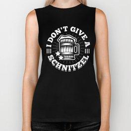 I Don't Give a Schnitzel Beer Party Pub Bar Alcohol Chicken Design Biker Tank