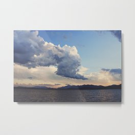 Rain clouds over Whiteface Metal Print