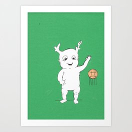 BASKETBALL Art Print