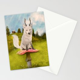 Portrait of a Deer Fox Stationery Cards