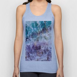 Turquoise & Purple Quartz Crystal Unisex Tank Top